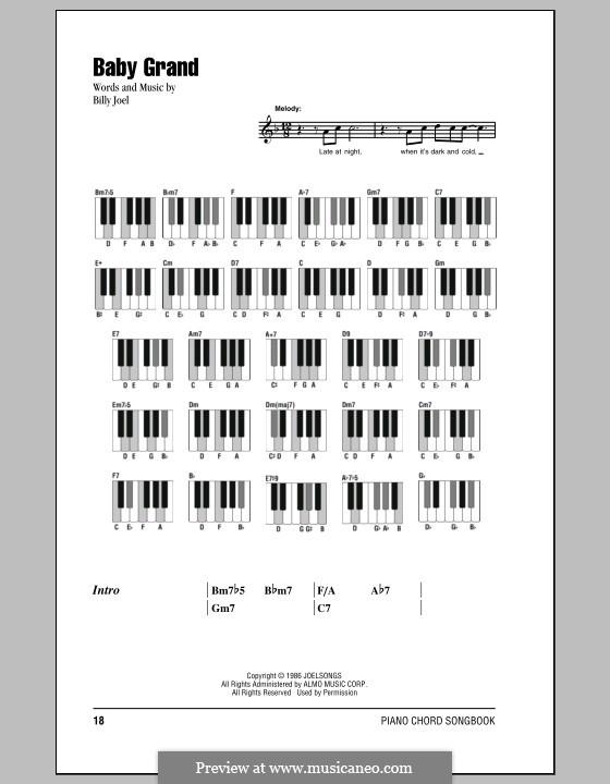 Baby Grand: Texte und Akkorde by Billy Joel
