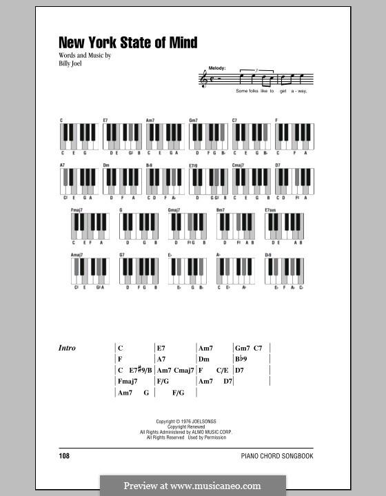 New York State of Mind: Texte und Akkorde by Billy Joel