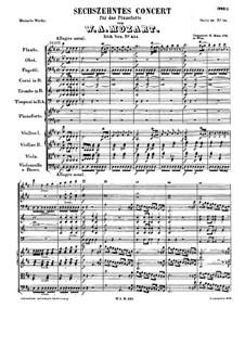 Konzert für Klavier und Orchester Nr.16 in D-Dur, K.451: Teile I-II by Wolfgang Amadeus Mozart
