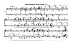5 Simple pieces for piano: Ninth book No.2, MVWV 726 by Maurice Verheul