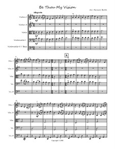 Be Thou My Vision: Für Streichorchester by folklore