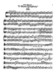 Vollständiger Teile: Bratschenstimme by Wolfgang Amadeus Mozart