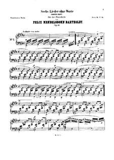 Lieder ohne Worte: Für Klavier by Felix Mendelssohn-Bartholdy