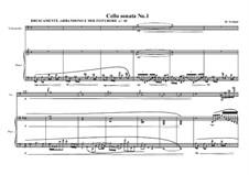 Cello sonata No.1, MVWV 214: Cello sonata No.1 by Maurice Verheul