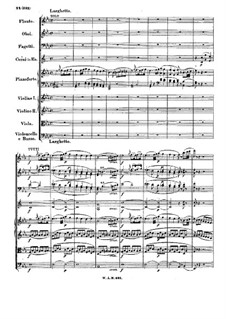 Konzert für Klavier und Orchester Nr.27 in B-Dur, K.595: Teil II by Wolfgang Amadeus Mozart