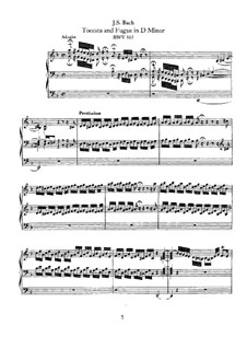 Toccata und Fuge in d-Moll, BWV 565: Für Orgel by Johann Sebastian Bach