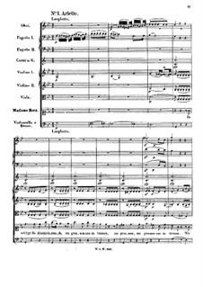 Der Schauspieldirektor, K.486: Nr.1-4. Partitur by Wolfgang Amadeus Mozart