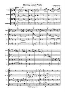 Walzer: Für Streichquartett by Pjotr Tschaikowski