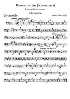 Fragmente: Introduktion – Cellostimme by Modest Mussorgski