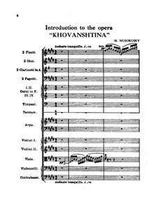 Fragmente: Introduktion by Modest Mussorgski