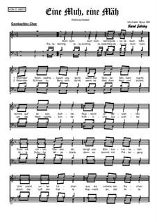 Weihnachtliches. Eine Muh, eine Mäh, Op.396: Weihnachtliches. Eine Muh, eine Mäh by folklore
