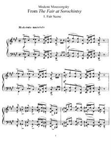 Der Jahrmarkt und Gopak: Für Klavier by Modest Mussorgski