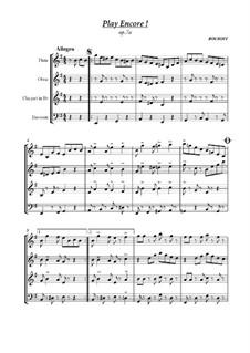Spiele als Zugabe !!!: For Woodwind Quartet, Op.7a by BOUROFF
