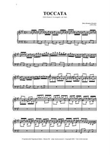 Sonate in A-Dur: Tokkata, für Organ by Pietro Domenico Paradies