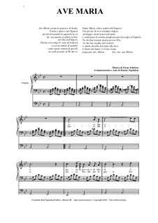 Ave Maria, für Zwei Instrumente, D.839 Op.52 No.6: Per tenore o soprano, organo con pedale by Franz Schubert