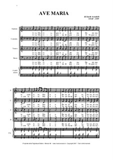 Ave Maria: Für Orgel by Jakob Arcadelt