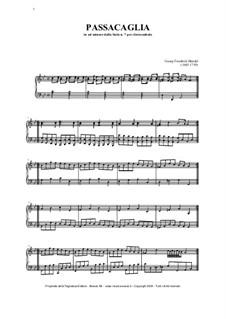 Suite Nr.7 in g-Moll, HWV 432: Passacaglia, für Orgel by Georg Friedrich Händel