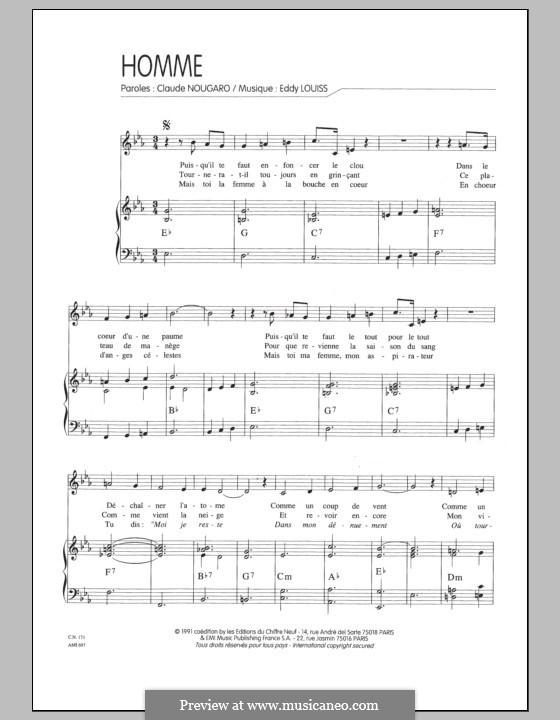 Homme: Für Stimme und Klavier by Eddy Louiss