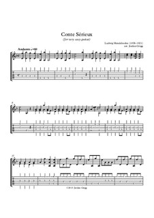 Conte Sérieux: For very easy guitar by Ludwig Mendelssohn