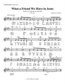 Welch ein Freund ist unser Jesus: Guitar lead sheet by Charles Crozat Converse