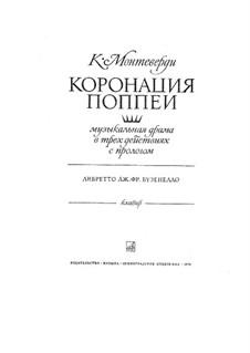 Die Krönung der Poppea, SV 308: Vorspiel, Stimmen und Klavier by Claudio Monteverdi