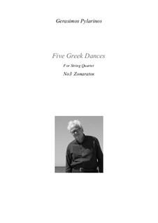 5 Greek dances for string quartet, Op.22a: No.3 Zonaratos by Gerasimos Pylarinos