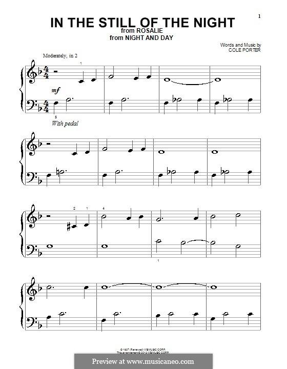 In the Still of the Night: Für Klavier by Cole Porter
