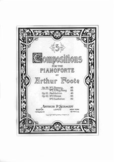 Zwei Stücke, Op.60: No.1 Revery by Arthur  Foote