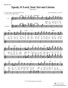 Speak, O Lord, Your Servant Listens: Instrument parts by Johann Schop