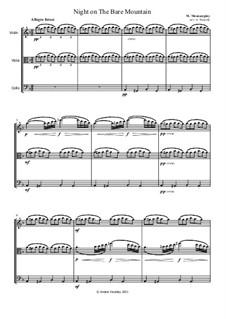 Eine Nacht auf dem kahlen Berge: Version for string trio – parts by Modest Mussorgski