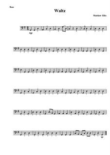 Waltz: Kontrabass-Stimme by Matthew Ellis