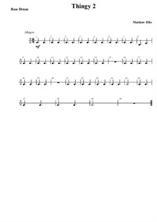 Thingy No.2: Bass drum part by Matthew Ellis