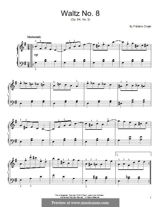 Nr.3 in As-Dur: Einfache Noten für Klavier by Frédéric Chopin