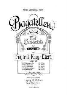 Five Bagatelles for Piano. No.5 Burleske, Op.17: Five Bagatelles for Piano. No.5 Burleske by Sigfrid Karg-Elert