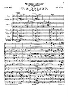 Konzert für Klavier und Orchester Nr.9 in Es-Dur 'Jeunehomme', K.271: Teile I-II by Wolfgang Amadeus Mozart