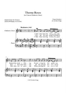 Heidenröslein, D.257 Op.3 No.3: For unison children's choir by Franz Schubert