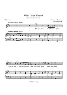 Who Goes There: For solo child's voice by folklore