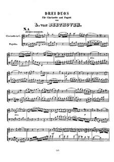Drei Duos für Klarinette und Fagott, WoO 27: Drei Duos für Klarinette und Fagott by Ludwig van Beethoven