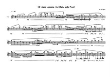 10 viam somnia for flute solo: Nr.2, MVWV 521 by Maurice Verheul