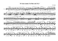 10 viam somnia for flute solo: Nr.3, MVWV 522 by Maurice Verheul