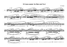10 viam somnia for flute solo: Nr.4, MVWV 523 by Maurice Verheul