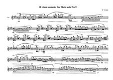 10 viam somnia for flute solo: Nr.5, MVWV 524 by Maurice Verheul