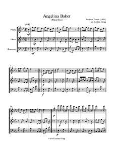 Angelina Baker: For wind trio by Stephen Foster