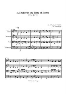 A Shelter in the Time of Storm: Für Streichquartett by Ira David Sankey