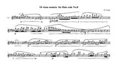 10 viam somnia for flute solo: Nr.8, MVWV 527 by Maurice Verheul
