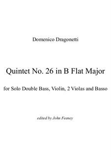 Quintet No.26 in B Flat Major: Vollpartitur by Domenico Dragonetti