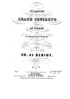 Violinkonzert Nr.5, Op.55: Partitur, Solostimme by Charles-Auguste de Beriot