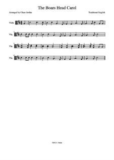 The Boar's Head Carol: For viola by folklore