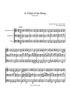 A Child of the King: For brass trio by John Sumner