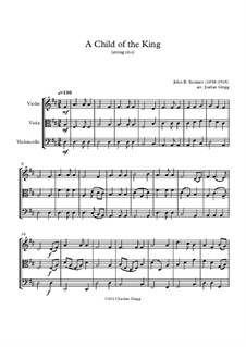 A Child of the King: Für Streichtrio by John Sumner